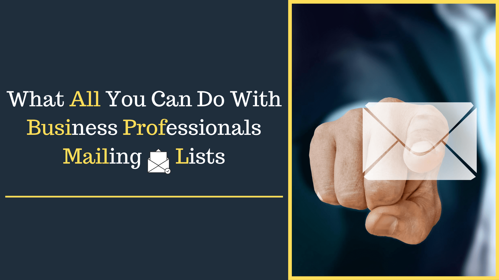 Professionals Mailing Lists, What All You Can Do With Business Professionals Mailing Lists